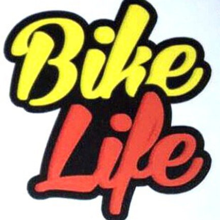 Stickers Bikelife Jaune et rouge