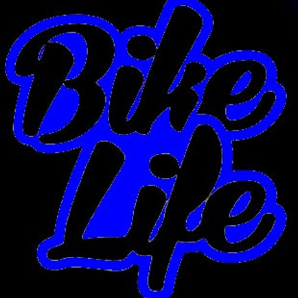 Stickers Bikelife Bleu