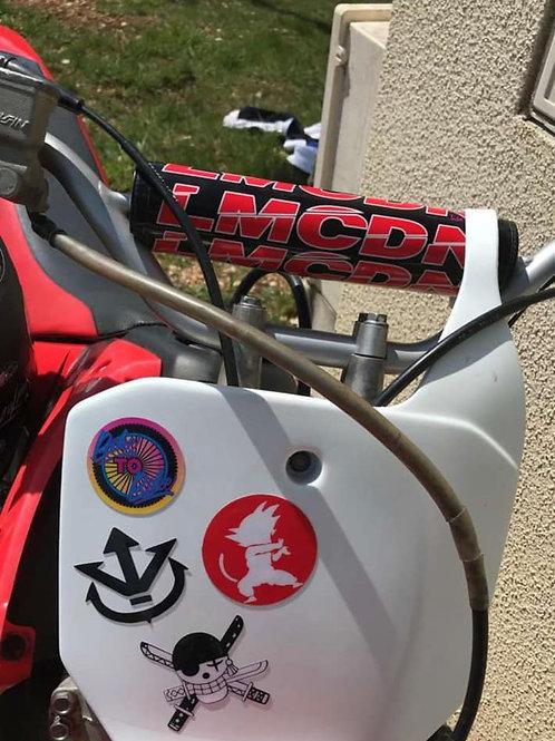 Sticker Mousse de guidon ronde LMCDN rouge
