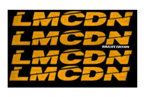 Sticker Mousse de guidon ronde LMCDN jaune