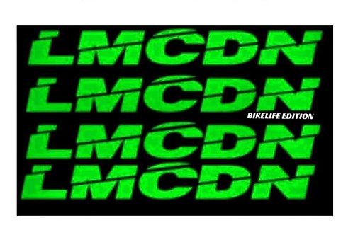 Sticker Mousse de guidon ronde LMCDN vert