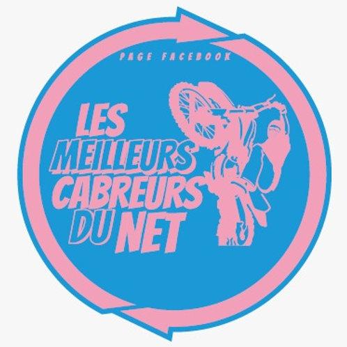 Stickers LMCDN bleu/rose