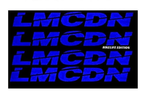 Sticker Mousse de guidon ronde LMCDN bleu