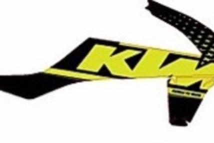 KTM noir et jaune fluo