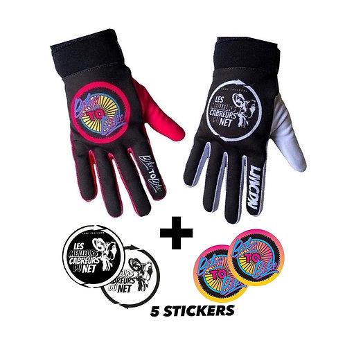 2 paires de gants LMCDN et BTB GRAPHIC