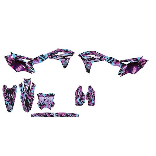 KXF COMPLET Violet/bleu