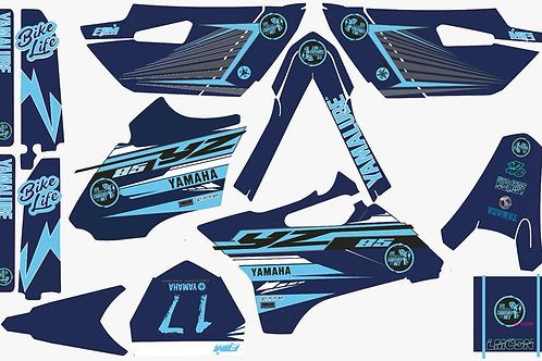 Kit deco 85yz LMCDN complet Bleu Ciel