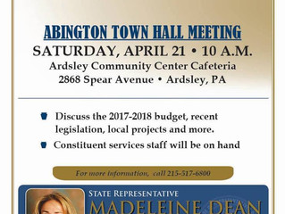 State Rep. Dean to Host Town Hall on April 21 at 10:00 AM