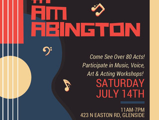 Join the Abington Education Foundation for the inaugural #IAMABINGTON arts festival