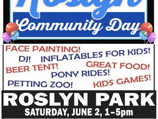 Roslyn Community Day Rescheduled to June 3 from 1 - 5