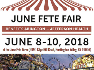 2018 June Fete is June 8 -10