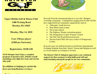 The Abington Rotary Club Golf Outing is on May 14
