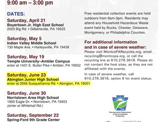 Household Hazardous Waste Collection on June 23 at 9:00 am