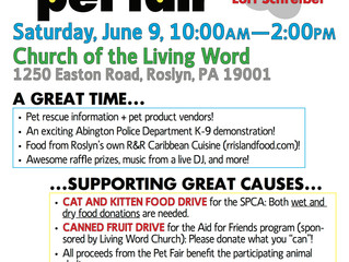 Roslyn Pet Fair scheduled for June 9 from 10 am - 2 pm
