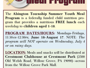 Federally Funded Lunches Offered at Crestmont Clubhouse this Summer