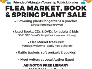 Abington Library Flea Market scheduled for April 21, 9:30 to 3:30