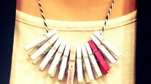 DIY Clothespin Necklace - under $5