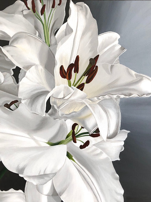 White Lilies - Limited Edition Print on Canvas Ed.1 of 25