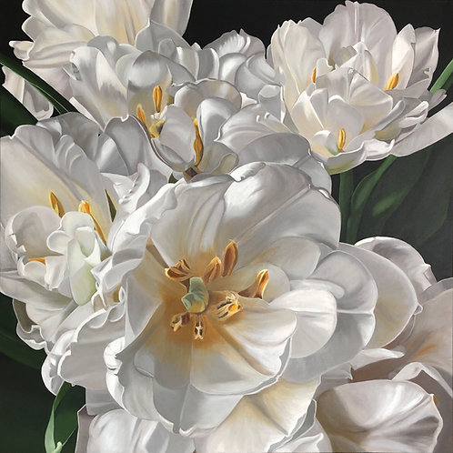 Double Tulips  - Limited Edition Print on Canvas Ed.2 of 25
