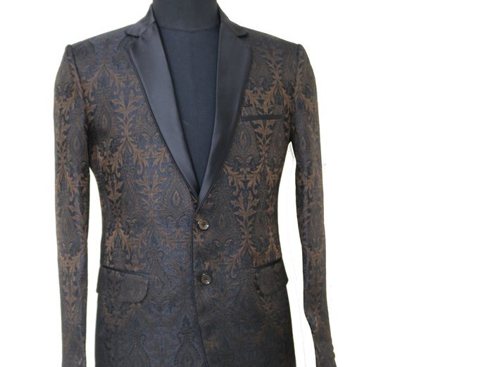 Freeborn Brown/Black Paisley Jacket