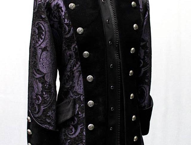 Versailles Coat - Purple/Black Tapestry