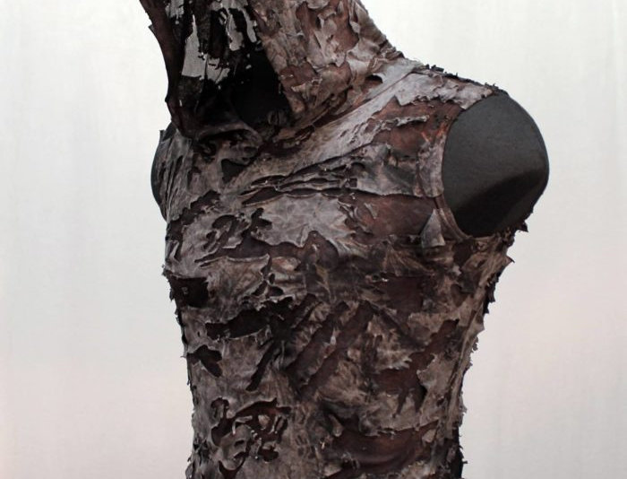sleeveless hoodie Grey Decayed Fabric