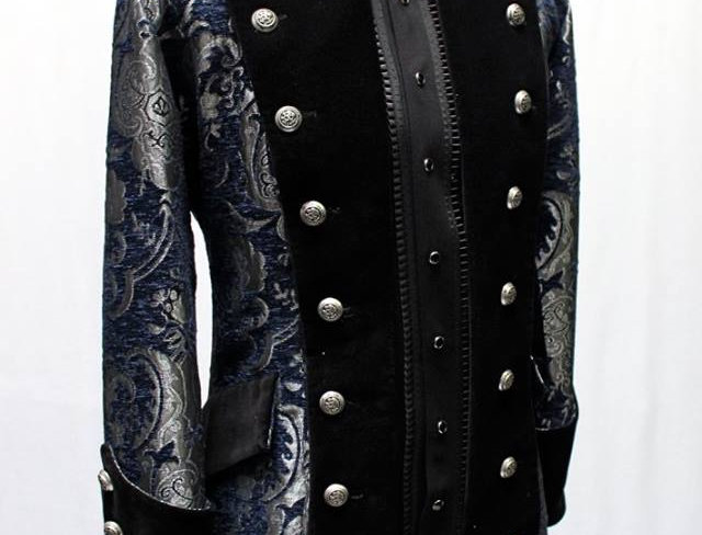 Versailles Coat - Blue & Silver Tapestry