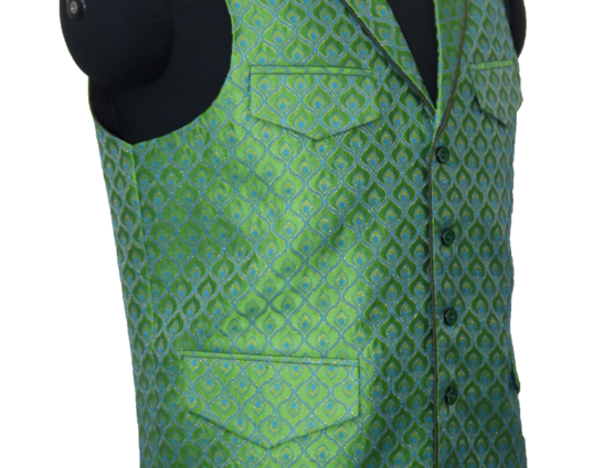 Green/Teal Peacock Vest
