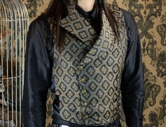 Shrine  Double Breasted Vest Brown