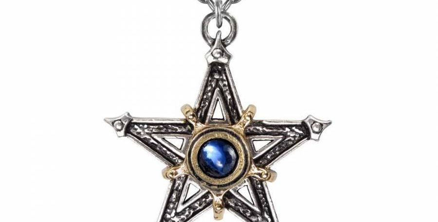 Alchemy medieval Pentacle Necklace