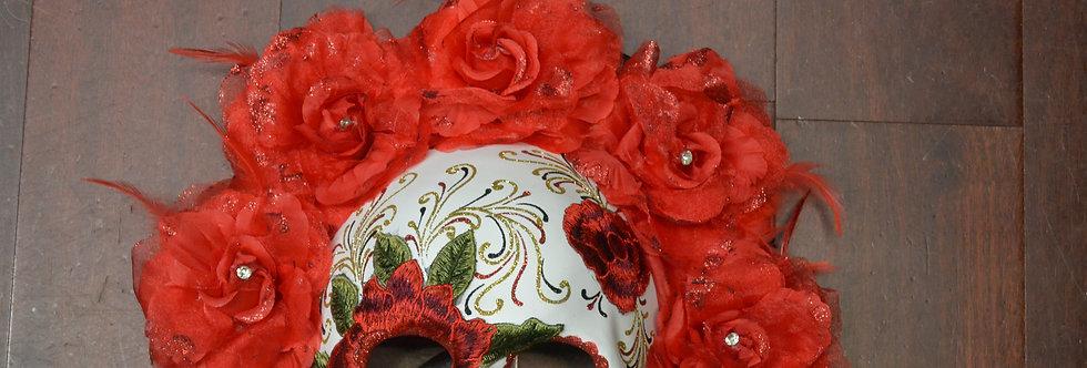 Dia De Los Muertas Half Mask