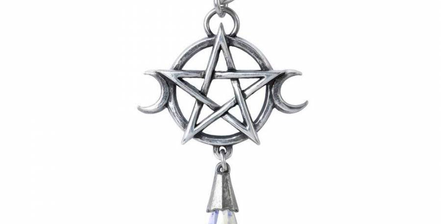 Alchemy Pentagram with crystal