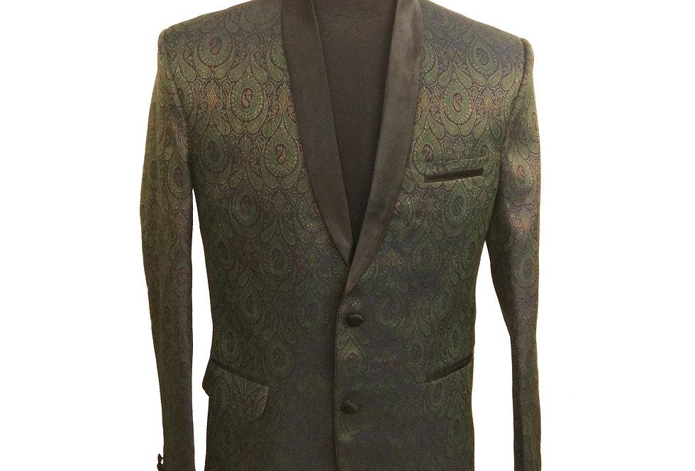 Freeborn Green/Blue/Gold Paisley Jacket