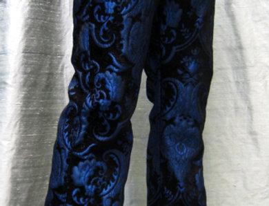 Shrine Blue Tapestry Pants