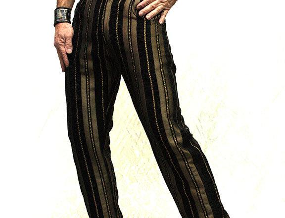 Shrine  Gold Stripe Carney Pants