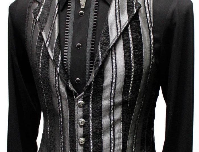 Silver Stripe Carney Vest