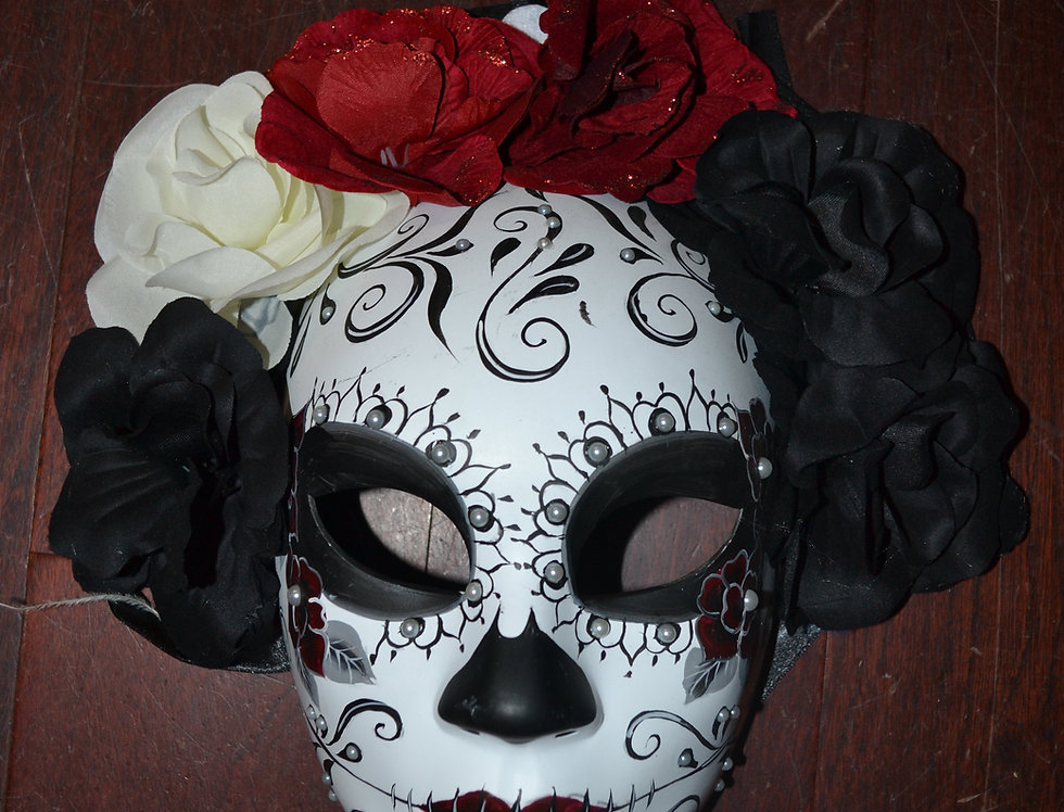 Dia De Los Muertas Full Mask