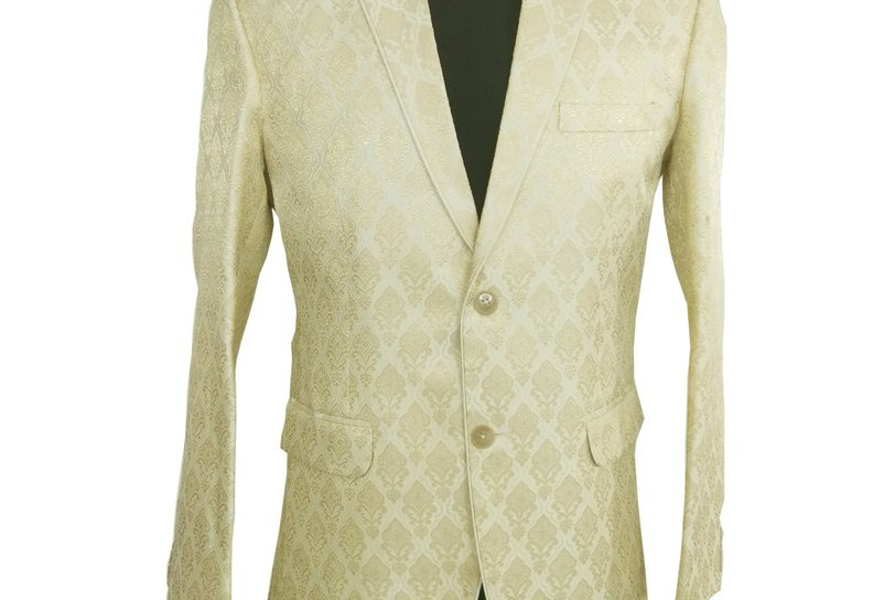 Freeborn Beige Suit Jacket