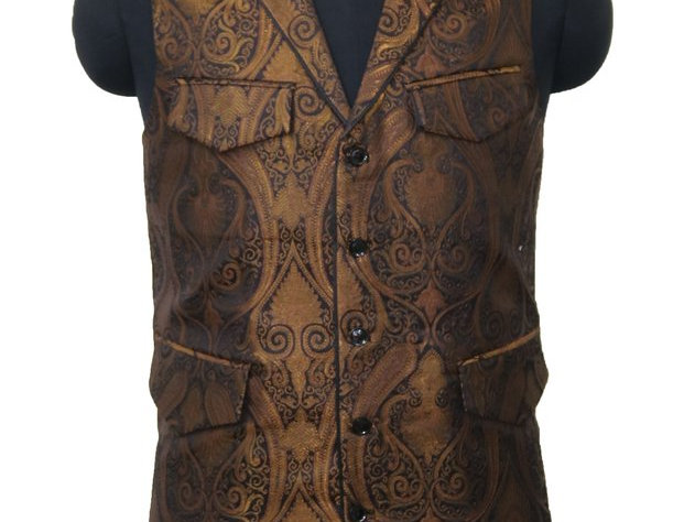 Copper and Black Vest
