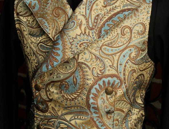 Shrine  Gold Paisley Vest