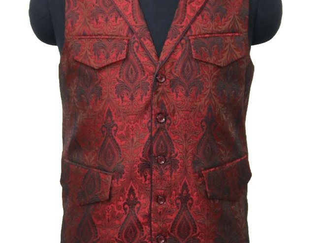 Freeborn designs Red Black/Gold Vest