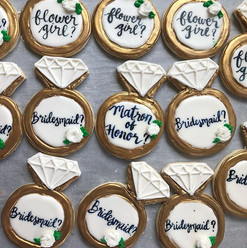 Bridal proposal cookies