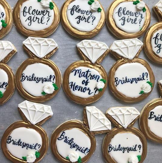 Bridal proposal cookies