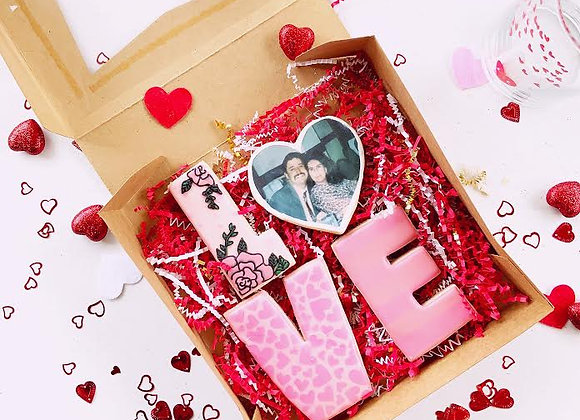 Custom LOVE cookie box