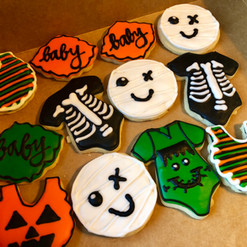 Halloween baby shower cookies