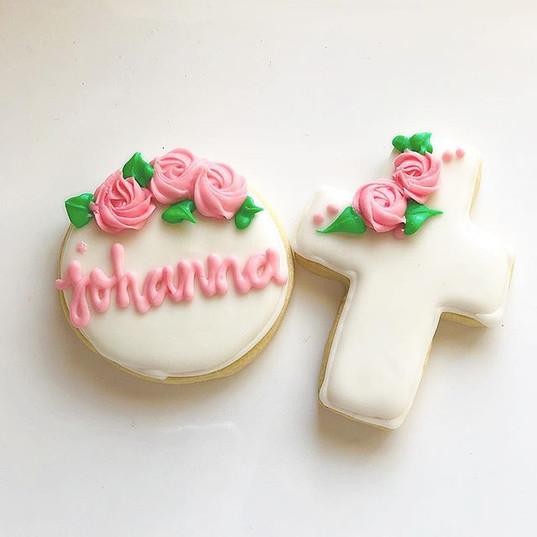 Baptism theme cookies