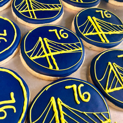 Custom warriors cookies