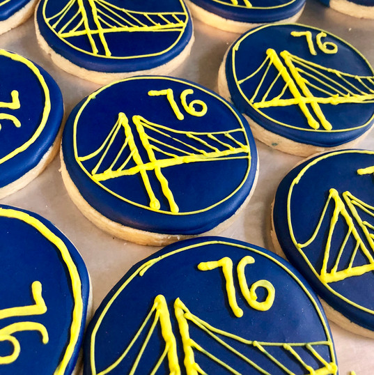 Custom warriors cookies