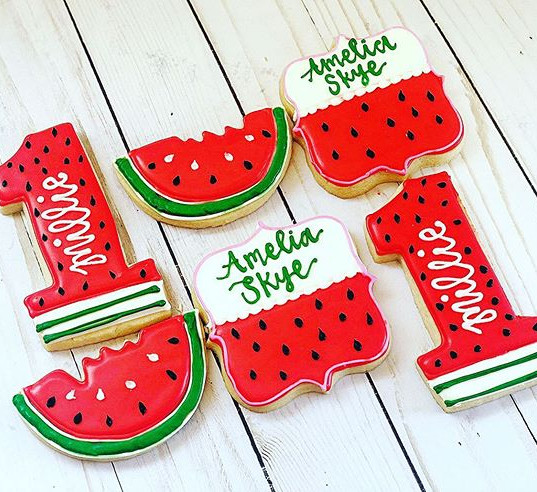 One in a Melon theme cookies