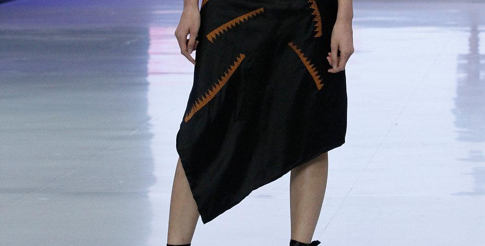 Silk Saroong Asymetrical Skirt